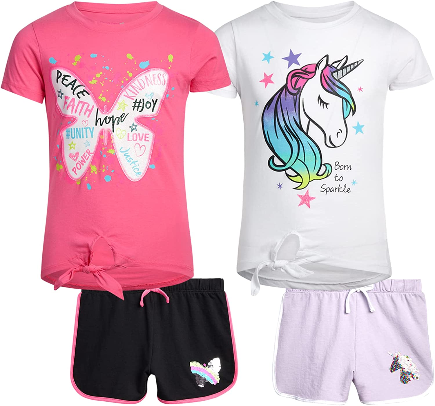 Dreamstar Girls' trust Shorts Set Max 50% OFF - 4 Terry Piece Sh French and