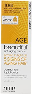 AGEbeautiful Anti-Aging Permanent Liquid Haircolor with Vitamin E 10G Very Light Golden Blonde