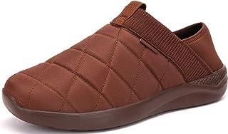 شباشب KUBUA للرجال والنساء داخل المنزل أحذية قطيفة سهلة الارتداء في الهواء الطلق حديقة متسكعون بني