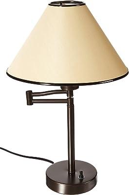 BOSTON HARBOR TB-8008-VB Swing Arm Adjustable Desk Lamp, 60 W, A19, 1 Pack, White