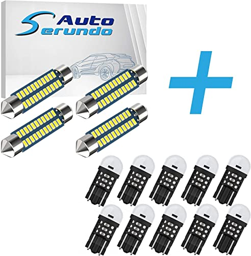 high quality Serundo Auto 4pcs 42mm 578 LED Bulbs + 10pcs 12V 24V 194 Led Bulb, sale 41/42mm 212-2 211-2 LED Bulbs and T10 168 W5W 2825 Led Bulbs For Car Interior outlet online sale Dome Map Door License Plate Lights etc. online