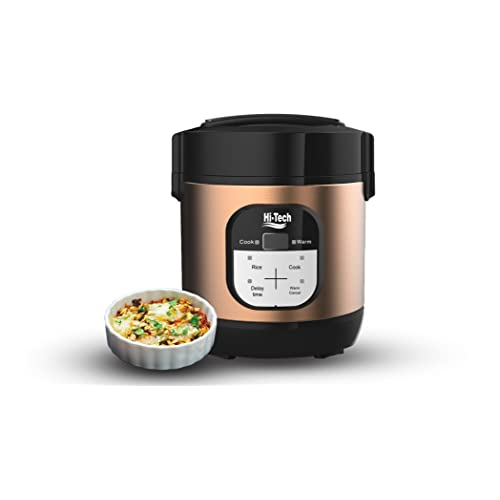 Hi-Tech Multi programmable Mini Cooker 1 Litre with Pot, Instant Access to Recipe app, Slow Cook, Rice Cooker, Multi-Cooker Personal Cooker, 1 Year Warranty