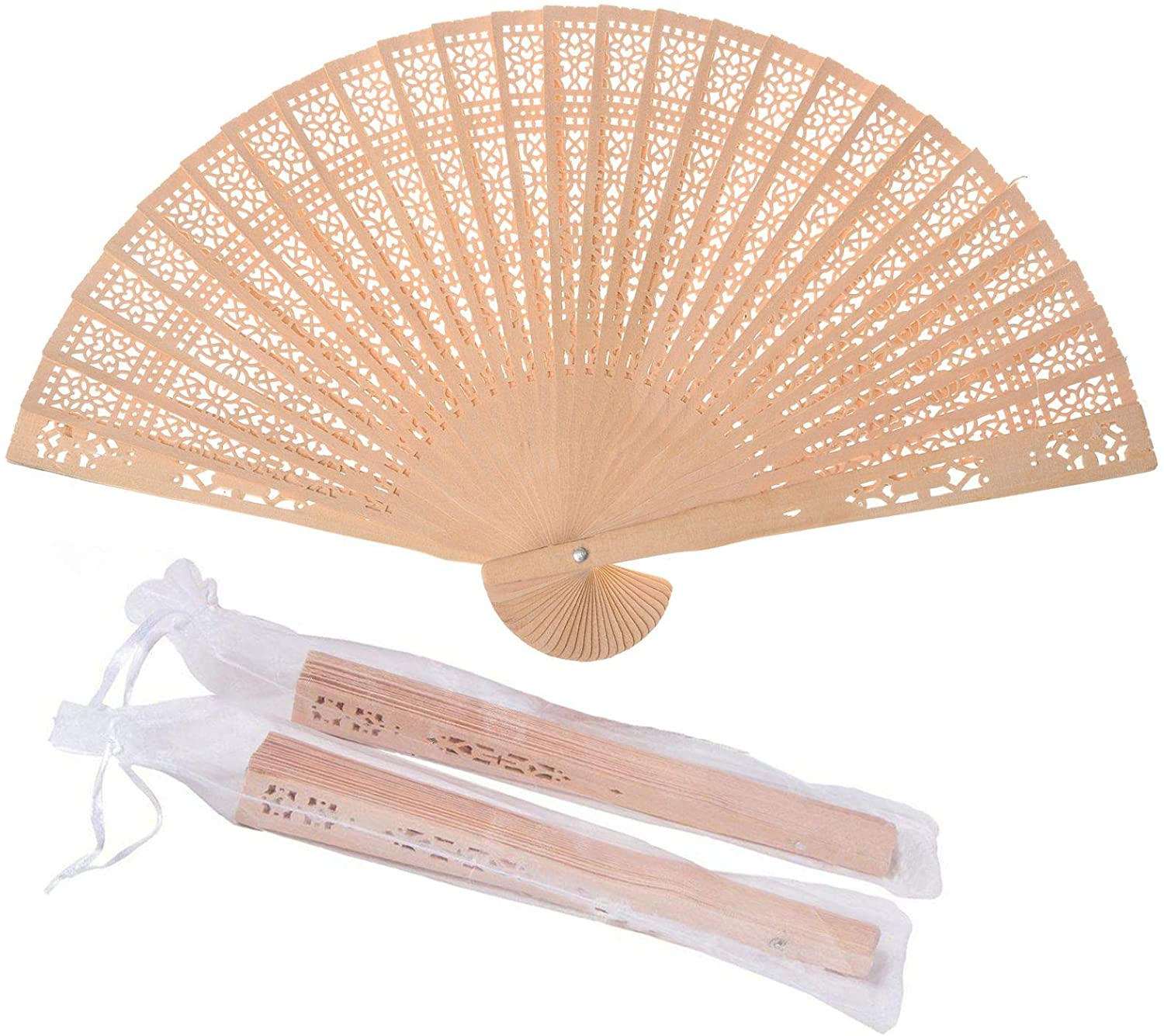 SL crafts Attention brand Wooden Hand Fan Held W Bags with Folding Ranking TOP17 Gift