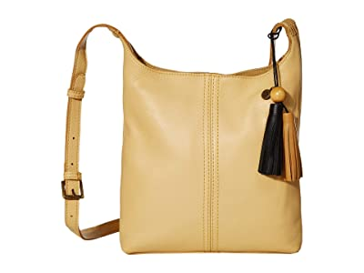 The Sak Huntley Leather Crossbody (Buttercup) Handbags