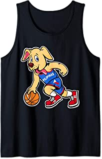 Philippines Basketball Jersey Yellow Lab Dog Player Flag  Tank Top