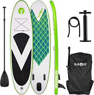 KLAR FIT Spreestar 320 Tabla de pie Hinchable (Paddleboard, Paddle Surf, Tabla Sup 320 x 12 x 81 cm, Bomba Aire, Pala, Correa Seguridad, Mochila Transporte) - Colores Varios