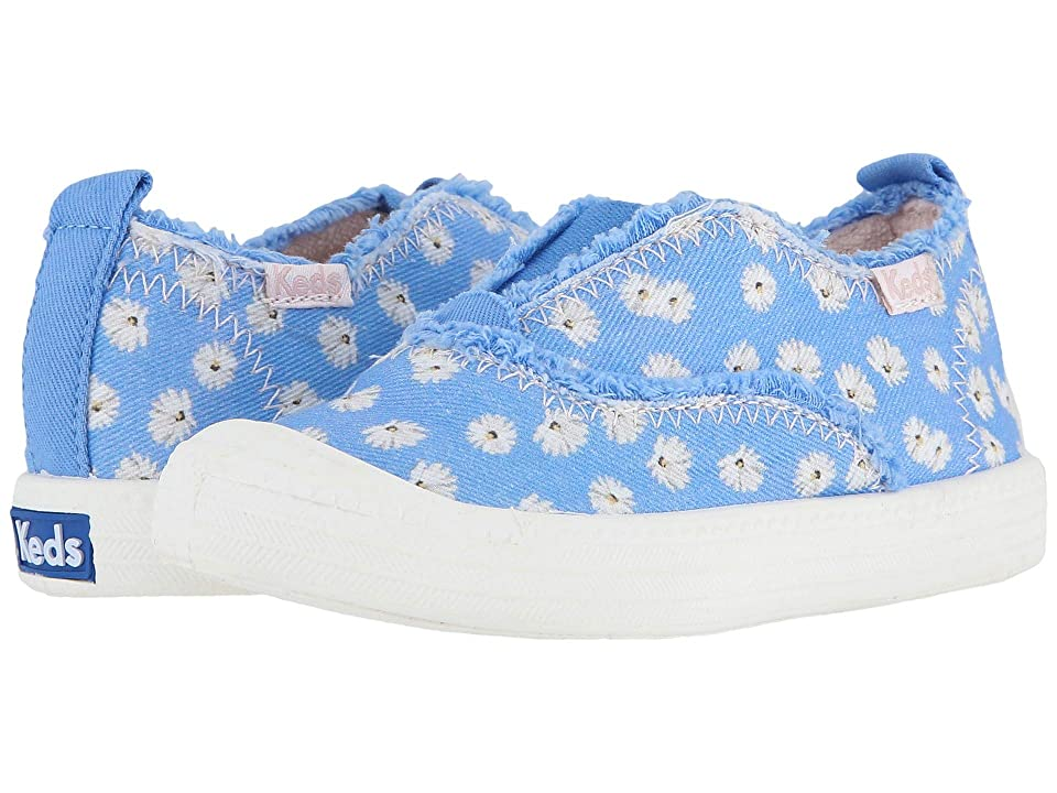 Keds Kids Breaker Slip-On (Toddler/Little Kid) (Blue Floral) Girl