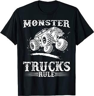 Monster Trucks Rule T-Shirt - Monster Truck Jumping Shirt
