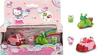 Dickie Toys 253242002 - Hello Kitty Apple + Keroppi Coconut - Hello Kitty 2-Pack Dazzle Dash Fordon i Metall, Frihjul & Fi...