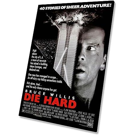 Die Hard Movie Bruce Willis Canvas Wall Art Picture Print 76x50cm