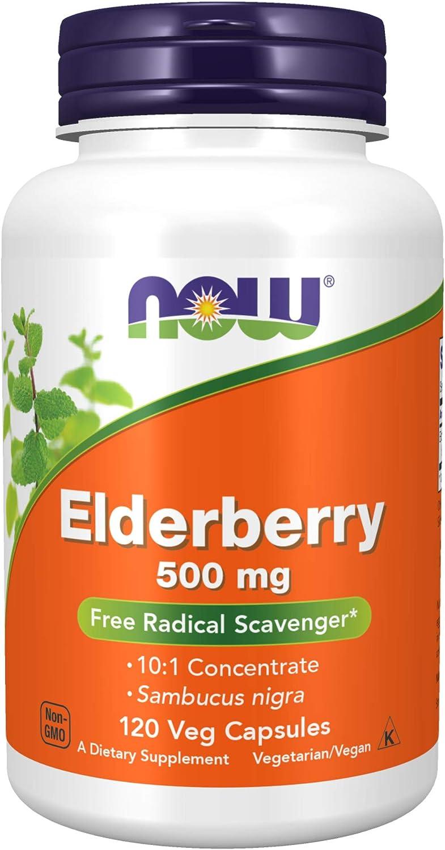 NOW Supplements Elderberry Max 55% OFF Sambucus Max 84% OFF nigra Concent 10:1 500 mg
