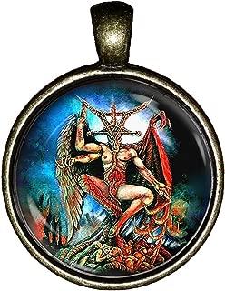 Baphomet Art Necklace Handmade Satanic Demons Pendant Jewelry