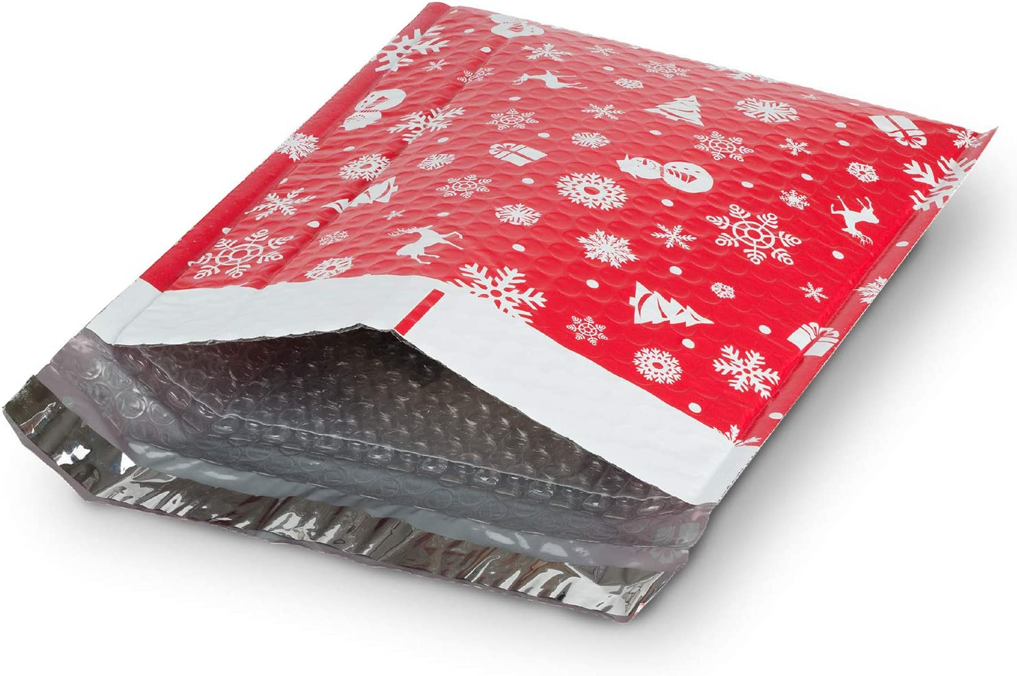 Fosmon #2 Christmas Poly Bubble Mailer 5 12 8.5 inches OFFicial x Pack Large-scale sale