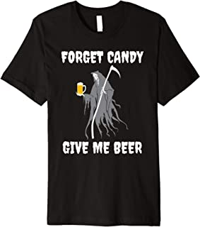 Halloween Grim Reaper Beer Designs Premium T-Shirt