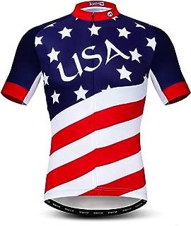 Cycling Jersey Men Short Sleeve Bike Shirt Breathable Bicycle Jacket Pockets