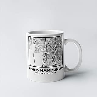 Novo Hamburgo City Map 11 oz. White Gift or Souvenir Coffee Mug