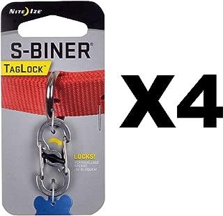 Nite Ize S-Biner TagLock Stainless Steel Locking Biner for Dog Collar (4-Pack)