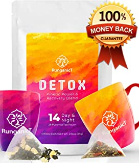 14 Days & Nights Detox Tea 28 Teatox teabags - Reduces Bloating Burns Fat Cleanses Colon Releases Toxins , Energizes the body , Improves Focus & Boost Metabolism , Calms the Body for Resting at Night