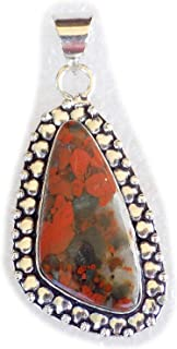 The Best Jewellery Red River Jasper Pendant, Silver Plated Pendant, Handmade Designer Pendant, Single Bail Pendant BRS-12356