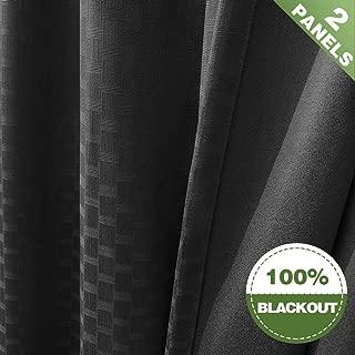 Geometric Full Blackout Window Curtains Bedroom 84
