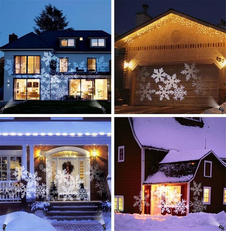 rotOI Snowboard Projektionslampe Led Weihnachtsfeier Dekorative Lichter (weier Schnee) wasserdichte Outdoor
