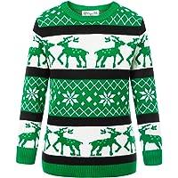 Danna Belle Reindeer Snowflake Kid's Pullover Sweater