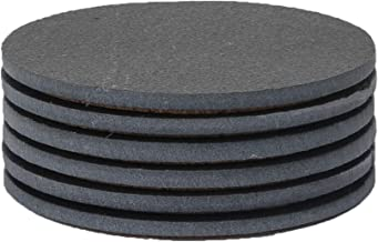 Sona Home Functional Slate Coasters. Tasteful Stone Coasters for All Styles. Round Black Coasters with Absorbent Top & Non-Slip Cork Bottom. Set of 6, 4.3