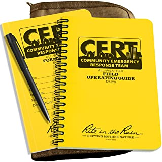 Rite in the Rain All-Weather CERT KIT: Tan CORDURA Fabric Cover, CERT FOG Guide, CERT Forms Book, All-Weather Pen (No. CERT-KIT)