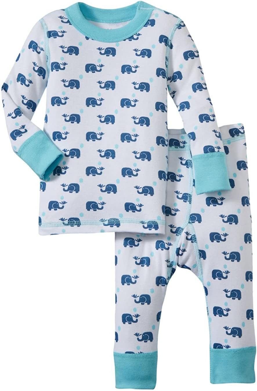 Masala Baby Boys' Elephant PJ Set (Baby) - Navy/Blue - 3-6 Months