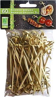 60 pinchos para 9 cm, cóctel palillos de bambú madera, palillos para brochetas palillos para ponche fiesta decoración fiesta de cóctel palillos para brochetas de ponche másaromático, 2098