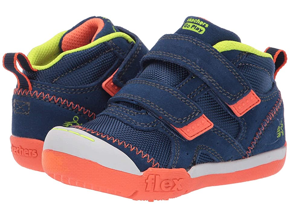 SKECHERS KIDS Flex Play-Mid Dash (Toddler/Little Kid) (Navy/Lime) Boy