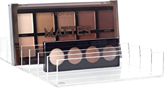 Mantello Acrylic 7-Section Divided Makeup Palette Organizer Holder Clear - 8