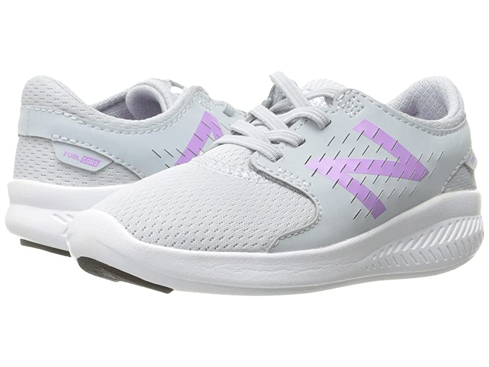 New Balance Kids FuelCore Coast v3 (Infant/Toddler) (Grey/Purple) Girls Shoes