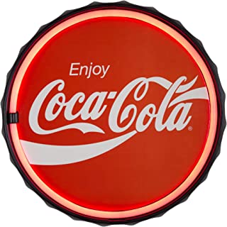 Officially Licensed Coca Cola LED Sign, New Improved Now with 6' Wall Plug Cord! LED Light Rope That Looks Like Neon, Wall Decor for Bar, Garage, or Man Cave