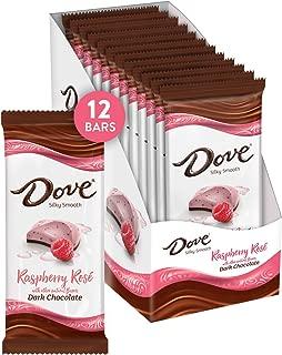 Dove Dark Chocolate Raspberry Rosé Bars, 3.3 Ounce (Pack of 12)