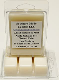 2 Pack 3.5 oz Scented Soy Wax Candle Melts Tarts - Apple Jack & Peel