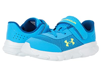 Under Armour Kids Assert 8 (Toddler) (Electric Blue/Halo Gray/Yellow Ray) Boy