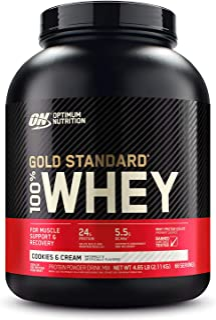 Gold Standard 100% ホエイ プロテイン クッキー&クリーム 2.27kg (5lbs) [米国メーカー正規品] [海外直送品]