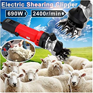 Laecabv 700W Electric Goat Sheep Shears Clipper Thick Coat Animal Grooming Clippers Cutter Tools for Sheep Alpaca Goat Cattle Farm Animals