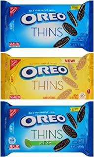 Oreo Thins Variety Pack (Pack of 3) - Original, Golden, Mint Creme