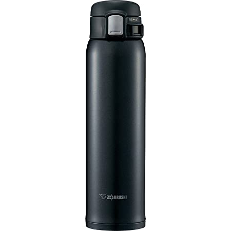 象印マホービン(ZOJIRUSHI) 水筒 ステンレス マグ ボトル 直飲み 軽量 保冷 保温 ワンタッチ オープン タイプ 軽量 コンパクト 600ml シルキーブラック SM-SD60-BC