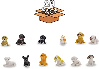 Windy City Novelties 24 Pack   Mini Toy Puppy Dog Figurines Pretend Play for Toddler & Kids  