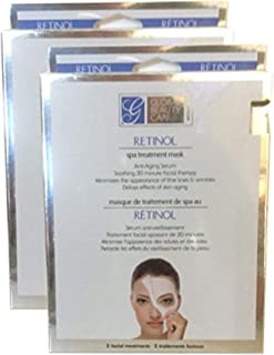 Global Beauty Care Retinol Spa Treatment Facial Mask Women Repair Revitalize Restore Face Sheet 4 Masks Per Pack 2 Packs