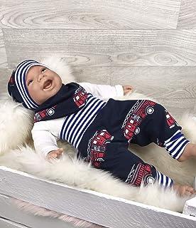Babyset Set Erstlingsausstattung Geschenkset Neugeboren Jungen Größe 56 Blau Bär
