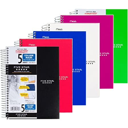 MEA73527 - Mead Five Star Wirebound Subject Notebook