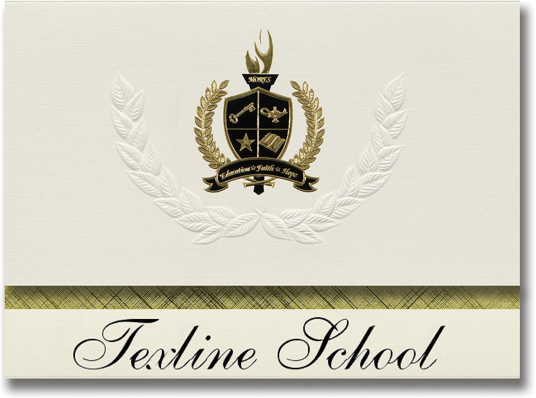 Signature Ankündigungen Texline Schule (Texline, TX) Graduation Ankündigungen, Presidential Stil, Elite Paket 25 Stück mit Gold & Schwarz Metallic Folie Dichtung B078WHZRY4      Queensland
