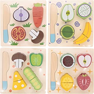 Canoe Fruits, Vegetables and Spices Puzzle Set of 4 - CT151216RJ21