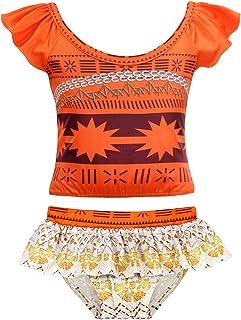 FeMereina Little Baby Girls Swimwear Bikini Swimsuit Tassel Top Bikini Set Summer Swimsuit 5-14Years
