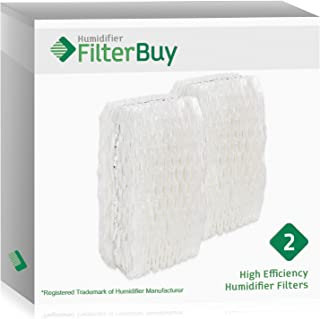 FilterBuy Replacement Humidifier Wick Filters Compatible with WF813 Relion. Fits Relion Models RCM-832 and RCM-832N. Pack of 2.