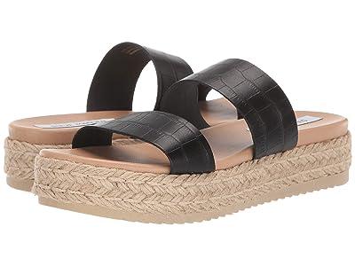 Steve Madden Axie Espadrille Sandal (Black Croco) Women